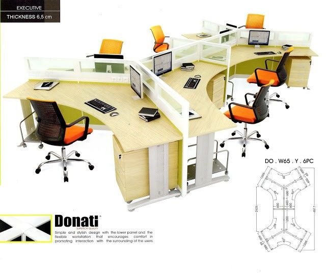 Partisi Kantor Donati DO.W65.Y.6PC